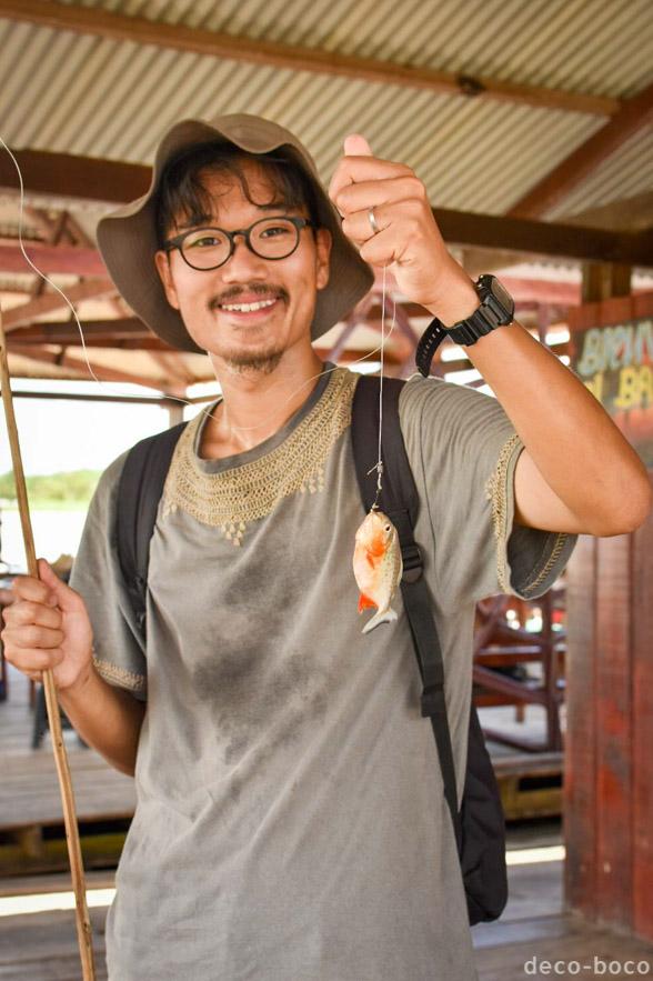 ピラニア釣り アマゾンツアー イキトス