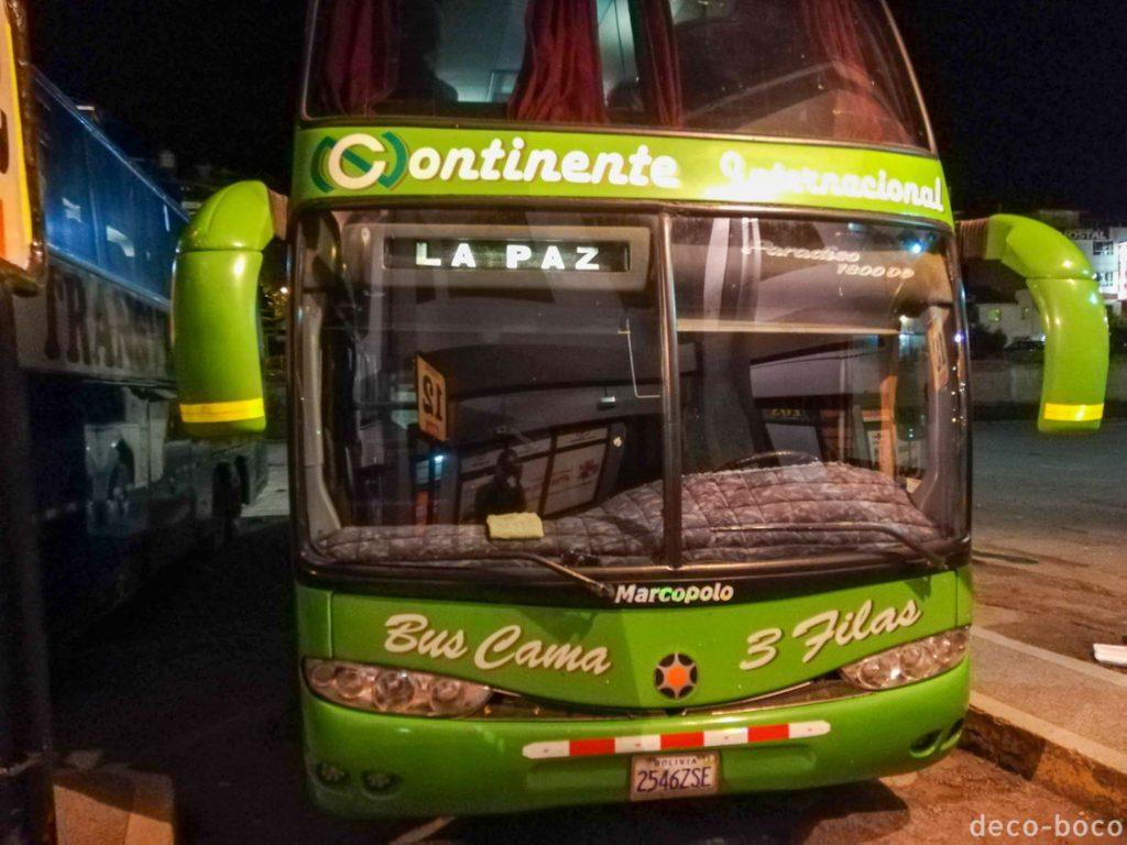 クスコからラパス バス外観