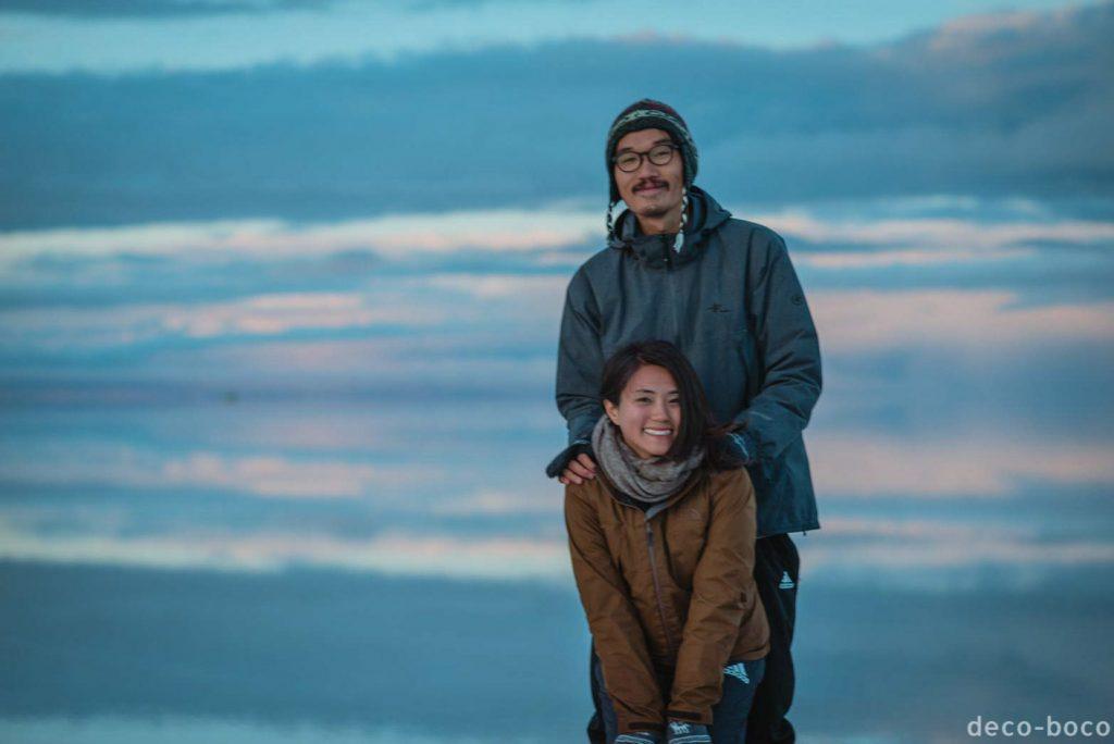 ウユニ塩湖 夜明け